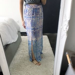 Anthropologie Maeve Silk Maxi Skirt